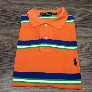 Polo Ralph Lauren Orange Stripe Polo Shirt L